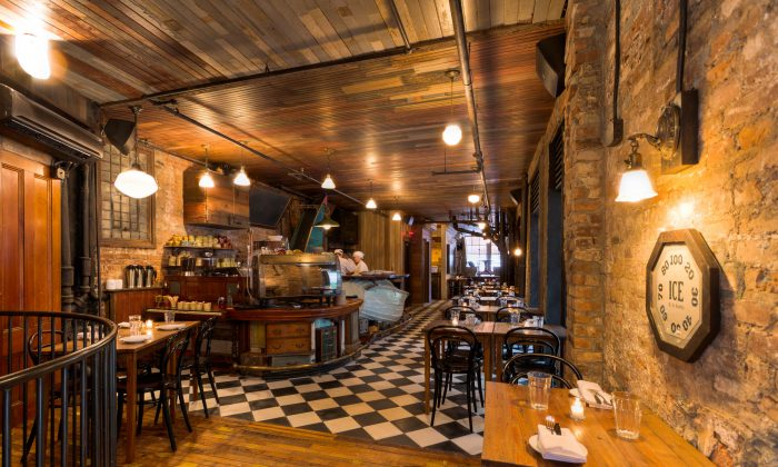 The inside of Preserve24, a new Lower East Side restaurant in a century-old building with a mission to raise awareness to environmental issues. (Courtesy of Preserve24)