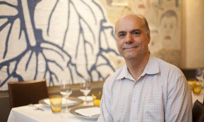 Guiseppe Bruno at Caravaggio on the Upper East Side, one of the three restaurants he and his brothers own. (Samira Bouaou/Epoch Times)