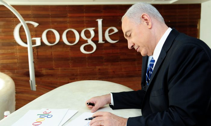 Israel's Prime Minister Benjamin Netanyahu attends the opening of Google's latest startup for research and development in Tel Aviv, Israel, on Dec. 10, 2012. For a little country, Israel is making big tech developments. (Kobi Gideon/GPO via Getty Images)