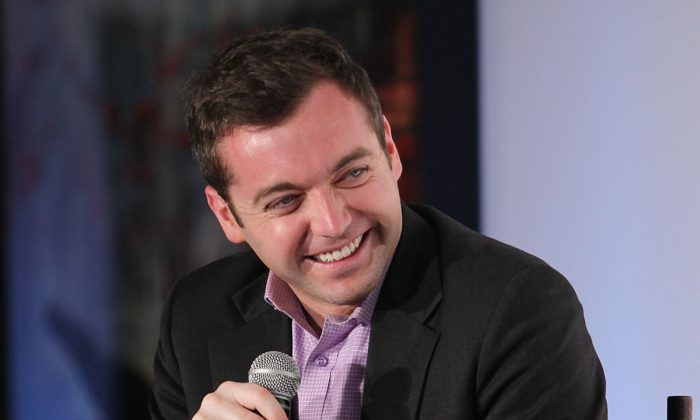Michael Hastings participates in the Guardian's 'Post-Truth Politics & The Media's Role' dicussion at The LongView Gallery in Washington, D.C., on May 1, 2012. (Paul Morigi/Getty Images for The Guardian)