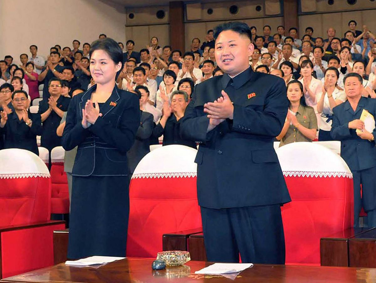 This file picture taken on July 6, 2012 by North Korean official Korean Central News Agency and released on July 9 shows North Korean leader Kim Jong Un (C), accompanied by wife Ri Sol-Ju.(KNS/AFP/GettyImages)