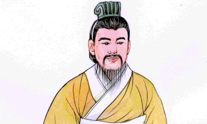 Xiao He, dedicated prime minister to Emperor Gaozu of Han (Liu Bang), is known for his sound advice, foresight, and devotion to the best interests of the people. (Blue Hsiao/Epoch Times)