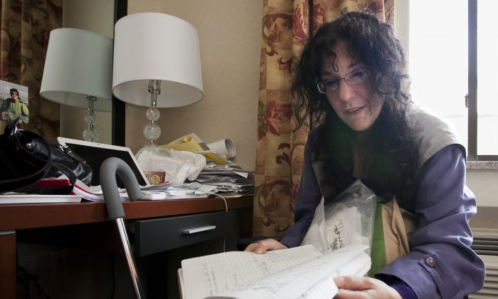 Allison Puglisi, seen on May 6, 2013, was a Hurricane Sandy evacuee in the New York City hotel program. (Samira Bouaou/Epoch Times)