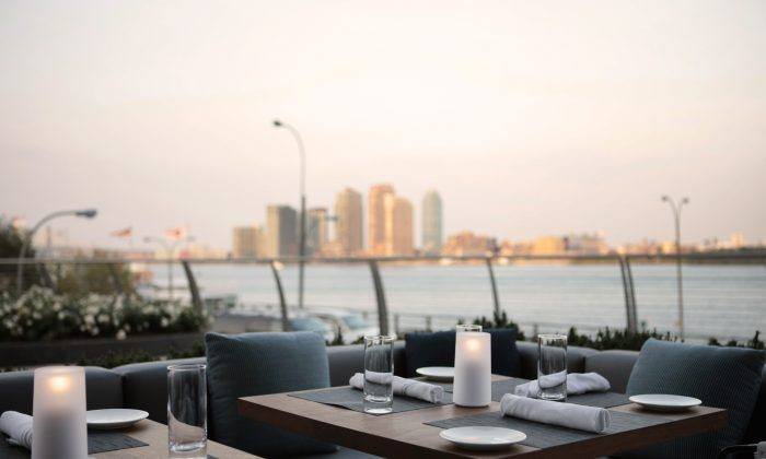 The Riverpark patio, overlooking the East River. (Courtesy of Riverpark)