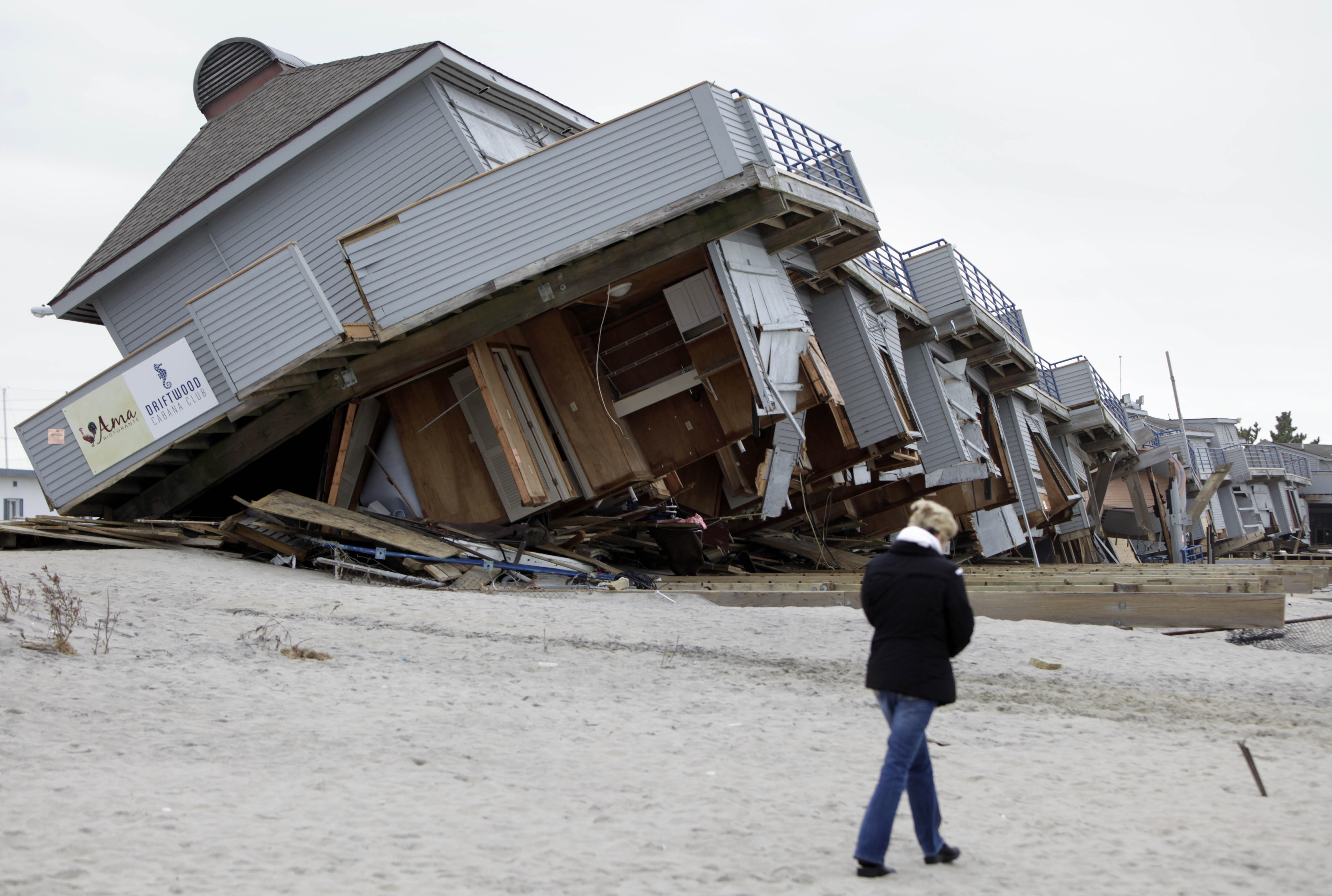 New Jersey Town Still Struggling To Rebuild After Sandy Post Photo Of Beach Walk Hotel Sea Bright Nj