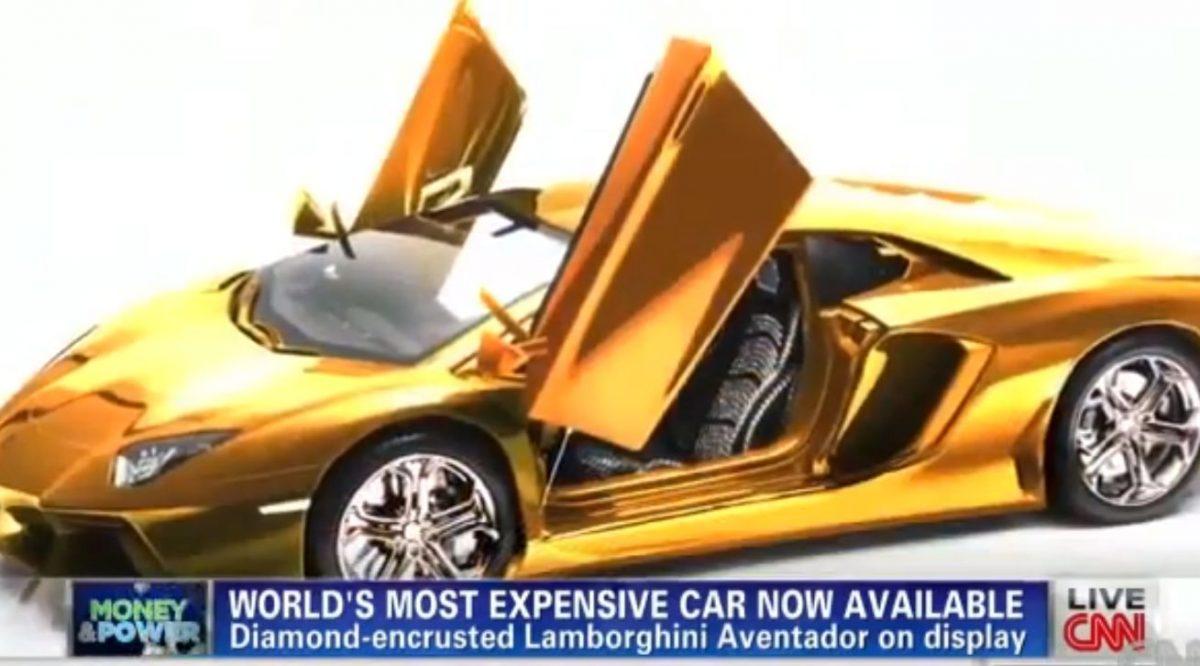 goldplated lamborghini for sale in dubai to cost 75m