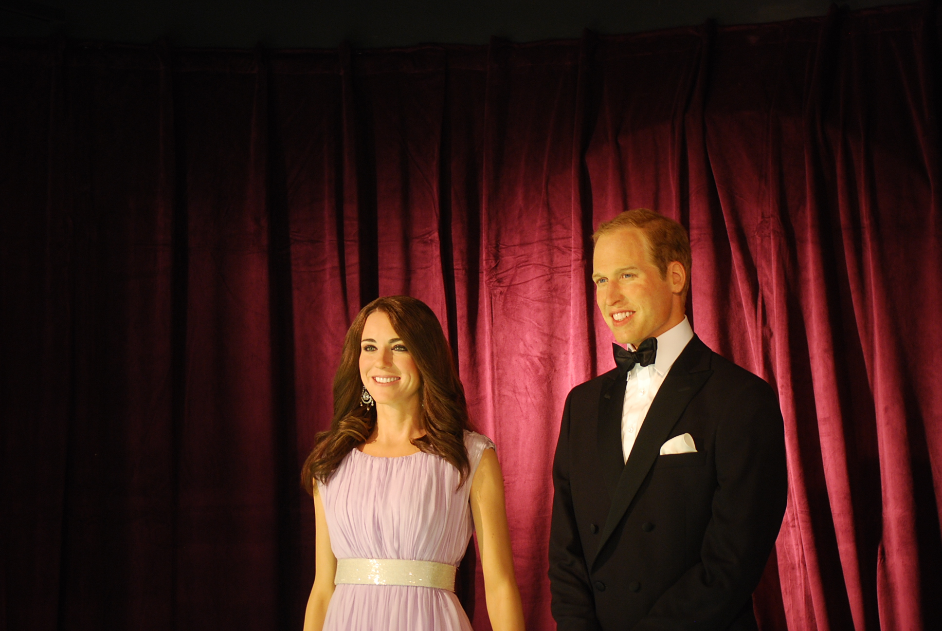Britain's Royal Couple in Nation's Capital, in Wax