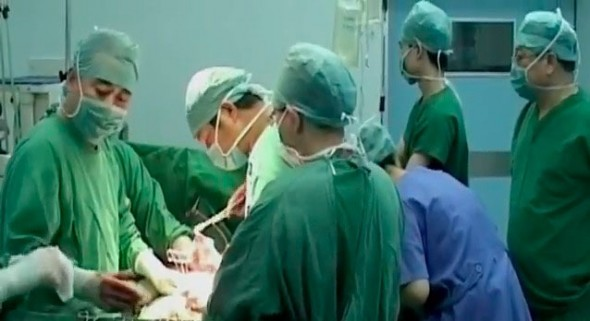 """A screen shot from the mini documentary, """"Killed for Organs: China's Secret State Transplant Business."""" The German newspaper Die Zeit points to Western complicity in the ongoing organ pillaging in China. (Courtesy of NTD Television)"""