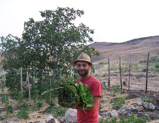 Farmer Emanuele Feltri in Valle del Simeto, Italy. Feltri has resisted giving in to the Mafia, which is rampant in the area. (Courtesy of Emanuele Feltri)