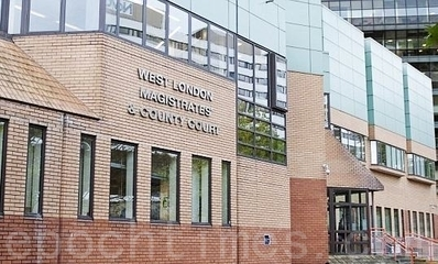 Pictured is the West London Magistrates and County Court in London, where a man who threw eggs at Falun Gong practitioners was tried. This was the fifth time in the past year that Falun Gong practitioners in London's Chinatown have been attacked. (Epoch Times)