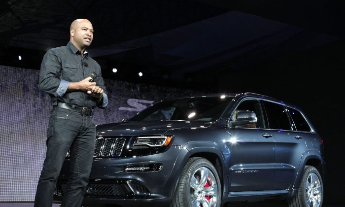 Ralph Gilles, President and CEO of SRT Brand and Motor Sports at Chrysler Group LLC, introduces the Jeep SRT Grand Cherokee in Detroit, Jan. 14. (Bill Pugliano/Getty Images)