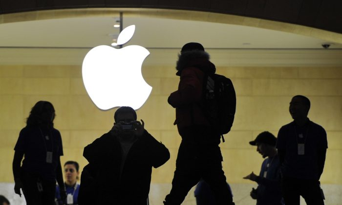 The Apple Store at Grand Central Terminal in New York, Jan. 25. (TIMOTHY A. CLARY/AFP/Getty Images)