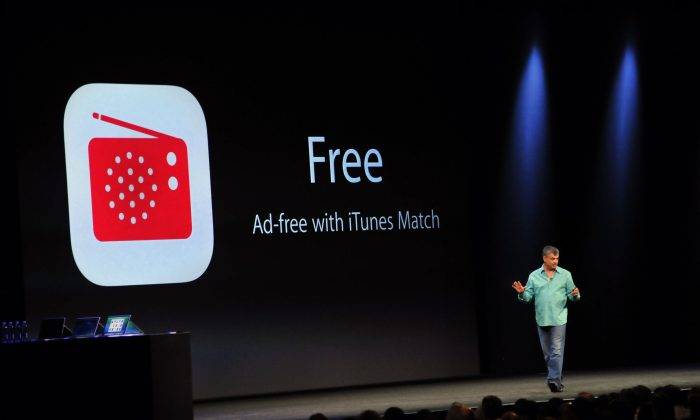 Eddy Cue, Apple's senior vice president of Internet software and services, introduces iTunes Radio at Apple's Worldwide Developer Conference (WWDC) in San Francisco, June 10. (Josh Edelson/AFP/Getty Images)