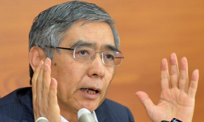 Bank of Japan Gov. Haruhiko Kuroda at a news conference in Tokyo, Japan, June 11, 2013. (Kazuhiro Nogi/AFP/Getty Images)