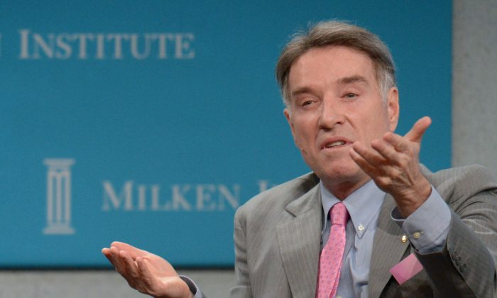Eike Batista, Chairman and CEO of EBX Group speaks during the 'Global Overview: Shifting Fortunes' lunch panel at the Milken Institute's Global Conference in Beverly Hills, Apr. 30, 2012. (FREDERIC J. BROWN/AFP/Getty Images)