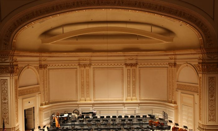 Carnegie Hall in anticipation of Shen Yun Symphony Orchestra performing, New York City, Oct. 5, 2013. (Christian Watjen/Epoch Times)