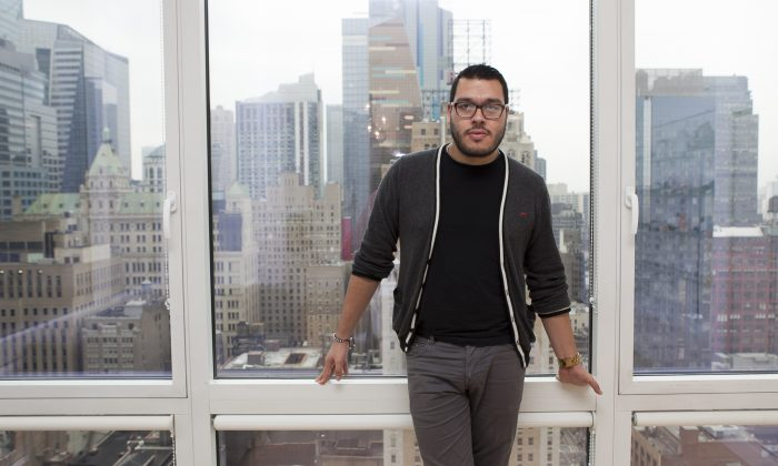Adolfo Sanchez at the New York CREATIV/Fashion Climaxx Showroom. (Samira Bouaou/Epoch Times)
