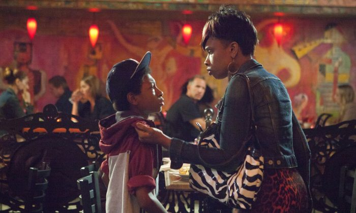 """Skylan Brooks as Mister and Jennifer Hudson as his mother, Gloria, in """"The Inevitable Defeat of Mister & Pete,"""" a Summit Entertainment release. (Summit Entertainment)"""