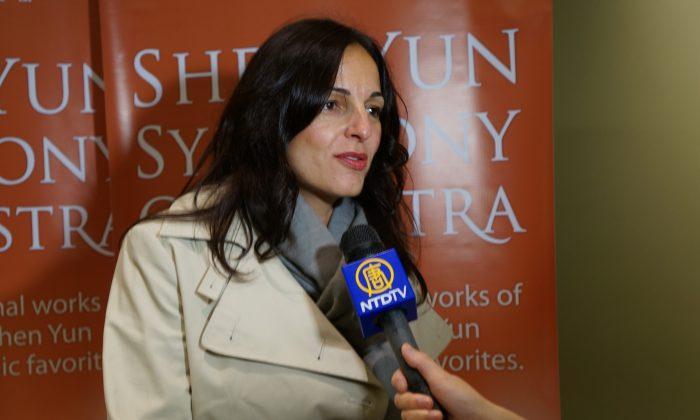 Bilina Djinjova attends a performance of Shen Yun Symphony Orchestra at Boston Symphony Hall, Oct. 9, 2013. (Epoch Times)