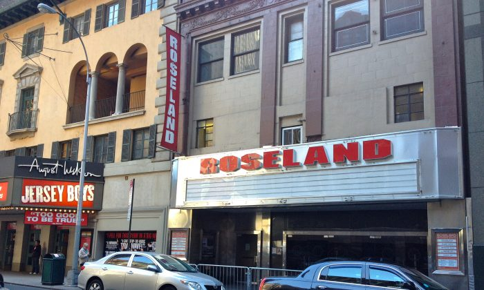 The entrance of the Roseland Ballroom, an iconic Midtown Manhattan venue that will close its doors in the spring of next year, on Oct. 20, 2013. (Kristina Skorbach/Epoch Times)