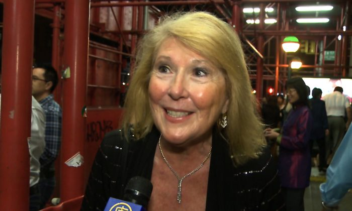 Alexandra York, author and music lover, saw Shen Yun Symphony Orchestra at Carnegie Hall on Saturday night, Oct. 5, 2013. (Courtesy of NTD Television)