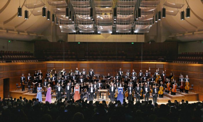 The concert at Davies Symphony Hall in San Francisco, on Oct. 22, 2013, concluded with standing ovations and four encores. (Rachel Tso/Epoch Times)