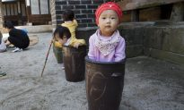 Girl in bucket