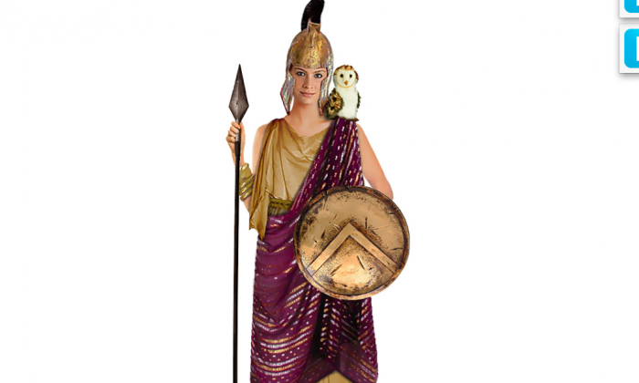 "This ""Athena"" goddess costume featured on the Take Back Halloween website was created to provide nonsexual Halloween costume ideas for girls. A child advocacy group says costume makers are marketing sexy Halloween apparel to girls as young as 7. (Courtesy TakeBackHalloween.com)"