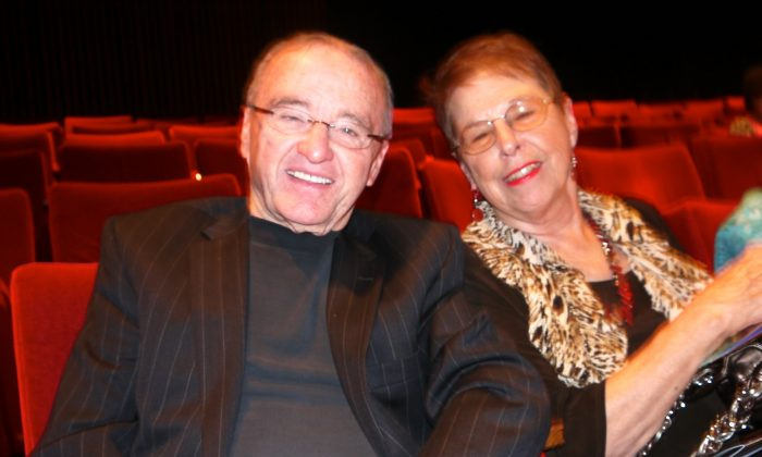 Business owner Ed Cravey and Ms. Diane Tade found the Shen Yun Symphony Orchestra a moving experience at the Jones Hall for the Performing Arts in Houston on Sunday, Oct. 13. (Sarah Guo/Epoch Times)