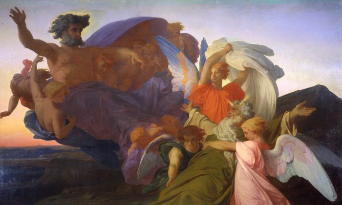 """The Death of Moses,"" 1851, by Alexandre Cabanel (1823-1889). Oil on canvas, 110 by 154 inches. (Courtesy of the Dahesh)"