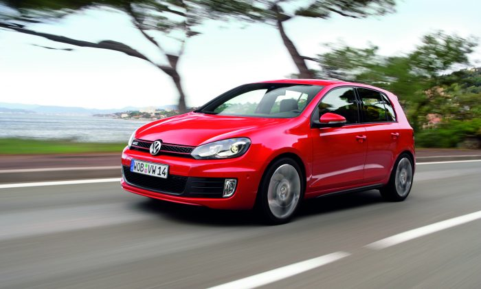 It's the 2013 VW Golf GTI, or whatever year. It always looks the same, so it will never go out of style, right? (Volkswagen)