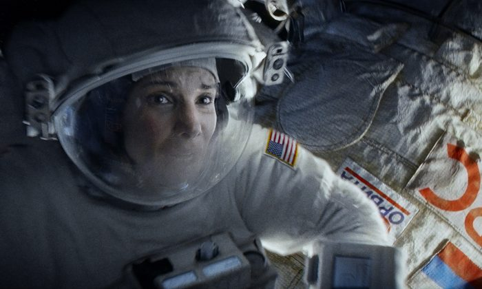 """Sandra Bullock as Ryan Stone in the dramatic thriller """"Gravity,"""" a Warner Bros. Pictures release. (Courtesy of Warner Bros. Pictures)"""
