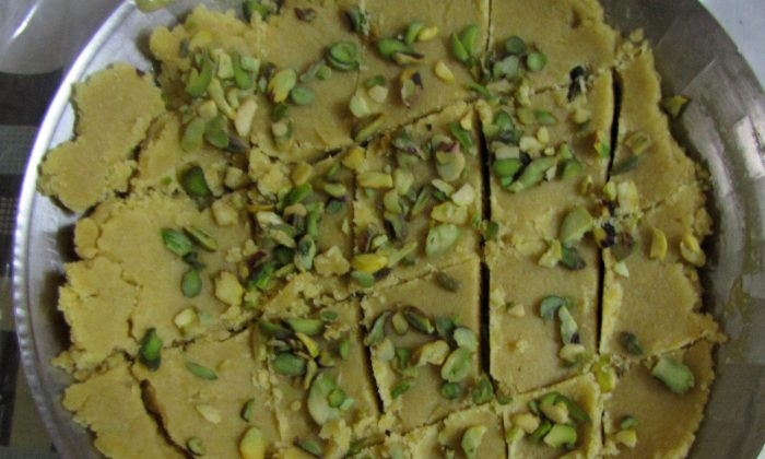 Sukhadi (Wheat flour sweet) is a sweet way to celebrate; it's served on special occasions like weddings or holidays. (Epoch Times)