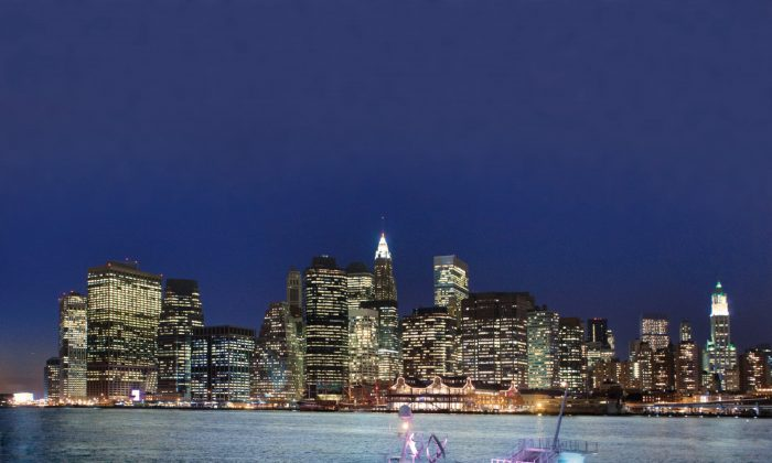 The Hornblower Infinity cruise on the Hudson River. (Courtesy of Hornblower Cruises & Events)