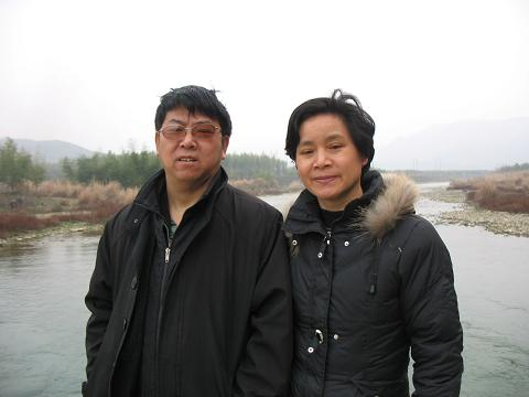 Lü Gengsong, pictured with his wife Wang Xue'e. (Chinese Human Rights Defenders)