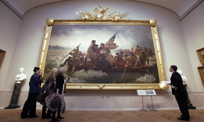 Visitors at the American Wing of the Metropolitan Museum of Art, New York, Jan., 2012. (Richard Drew)