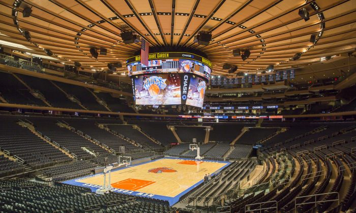 The transformed bowl of Madison Square Garden, New York, Oct. 21, 2013. (Rebecca Taylor/MSG Photos)