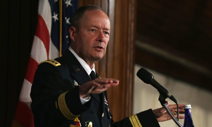 Commander of U.S. Cyber Command and director of the National Security Agency (NSA) General Keith Alexander speaks during the fourth annual Cybersecurity Summit September 25 at the National Press Club in Washington, DC. Cyberespionage for economic gain is sapping intellectual property from U.S. businesses. (Alex Wong/Getty Images)
