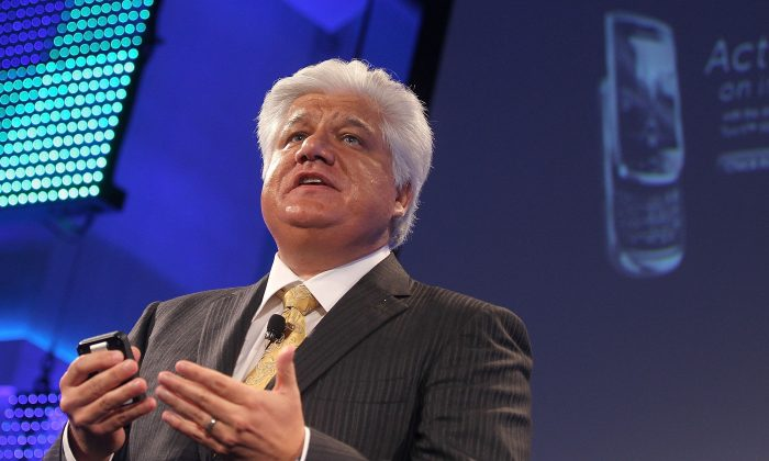 Mike Lazaridis, founder and co-chief executive of Research In Motion (RIM), file photo from Aug. 3, 2010. (Mario Tama/Getty Images)