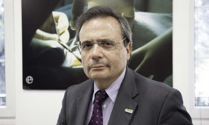 Dr. Rafael Matesanz, director of the National Transplant Organization in Spain (Nathalie Paco/Epoch Times)
