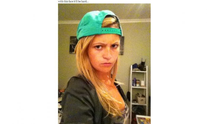 A screenshot of her Tumblr.