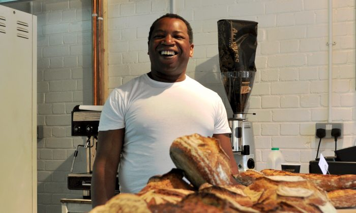 Simon, a trainee at the Better Health Bakery, Haggerston, London, enjoys the therapeutic benefits of bread making, which new research says can alleviate depression