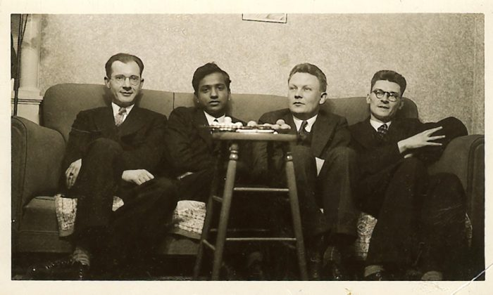 NASA's premier X-ray observatory was named the Chandra X-ray Observatory in honor of the late Indian-American Nobel laureate, Subrahmanyan Chandrasekhar. In this group photo are seen(L-R): Fred Whipple, Chandra, Gerard Kuiper, and Gerald Mulders (http://www.chandra.si.edu/resources/illustrations/chandraPortraits.html)