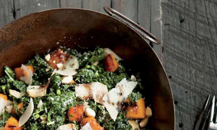 Kale Salad & Squashes, Almonds, and Grana. (Courtesy of Weldon Owen)