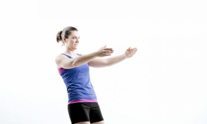 Kneeling lean back: Focus: Front of thighs and stomach. (Willis Lim/Brisbane Australia )