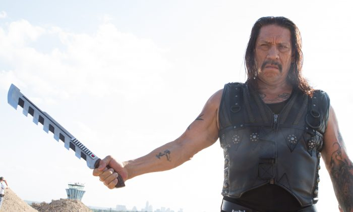 "Danny Trejo as Machete in ""Machete Kills,"" directed by Robert Rodriguez, opening Oct. 11. (Rico Torres/Open Road Films)"