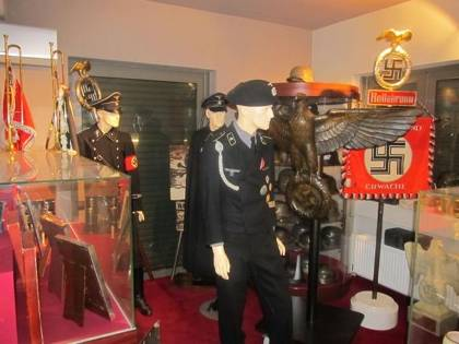 Nazi paraphernalia found at the home of fugitive Greek businessman Anasatios Pallis. (Hellenic Police)