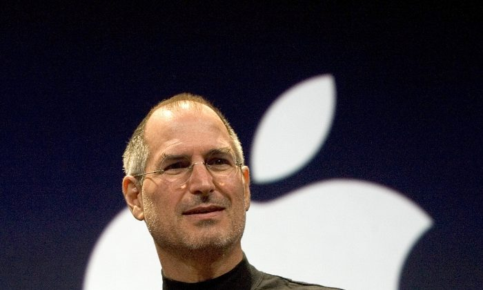 Steve Jobs announcing the first iPhone—an began a new era of smartphones. October 5 marked two years since the former Apple CEO's death. (David Paul Morris/Getty Images)