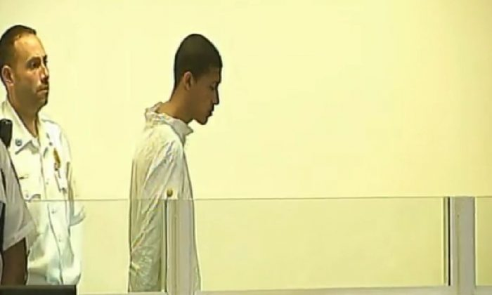 Philip Chism, 14, is seen in court on Wednesday (Fox Boston screenshot)