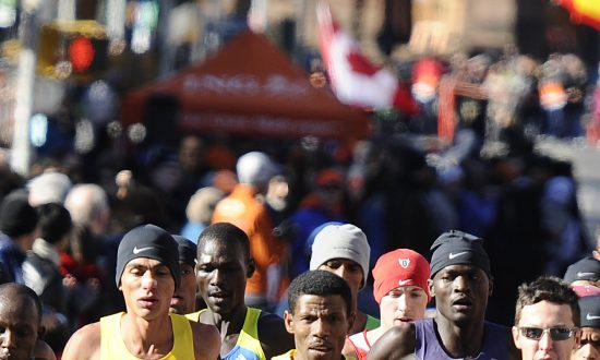 Runners begin the New York Marathon in 2010. Even getting to the starting line takes a lot so if you're running the marathon in NYC this year, be sure prepare properly in the last week.  (EMMANUEL DUNAND/AFP/Getty Images)